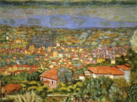 Pierre Bonnard - Panoramic view of Le Cannet 1941