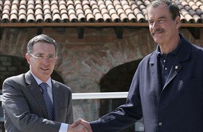 Alvaro Uribe y Vicente Fox