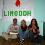 Con il Dr. Adrián Ramírez, presidente Limeddh e Maruie Thepaut segretario generale Limeddh. Agosto 2007. L´inizio di un amore