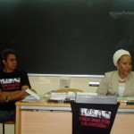 Il Dr. Adrián Ramírez con Piedad Cordoba ad una riunione del Tribunale Permanente dei Popoli. Madrid, maggio 2010