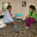 Il Dr. Adrián Ramírez, presidente della Limeddh con Marica Di Pierri, resp. comunicazione ASud.