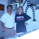 con il Dr. Adrián Ramírez presso la sede di Radio Onda Rossa