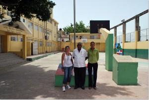Dr. Manuel Maria Mercedes presidente CNDH, Berkania Garcia directora ejecutiva y Annalisa Melandri